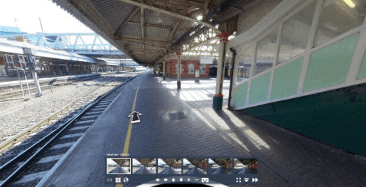 Screen shot from a 360º virtual tour of Nottingham Train Station
