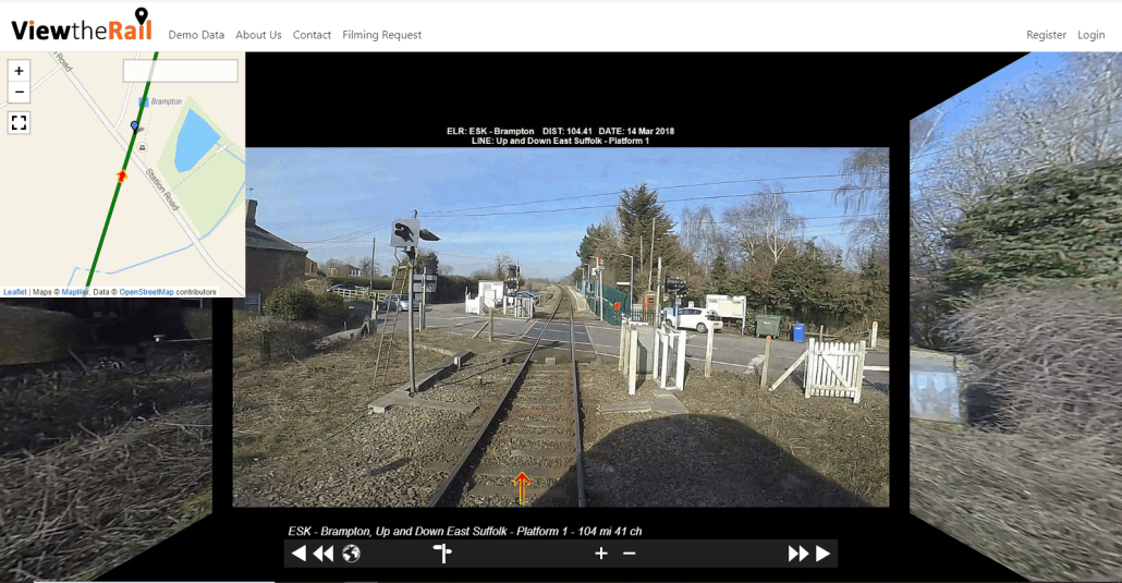 A screenshot from View The Rail